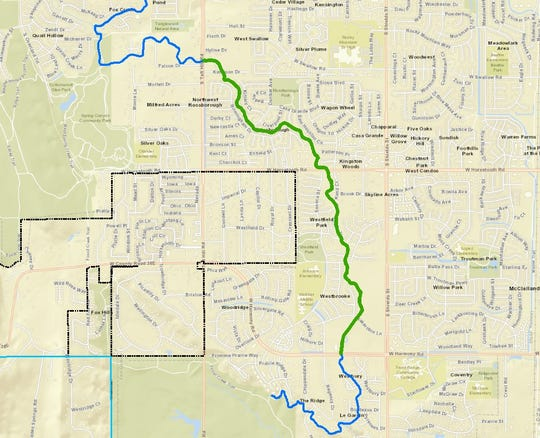 The first segment of the Pleasant Valley and Lake Canal expected to be rehabilitated covers about 2 miles.