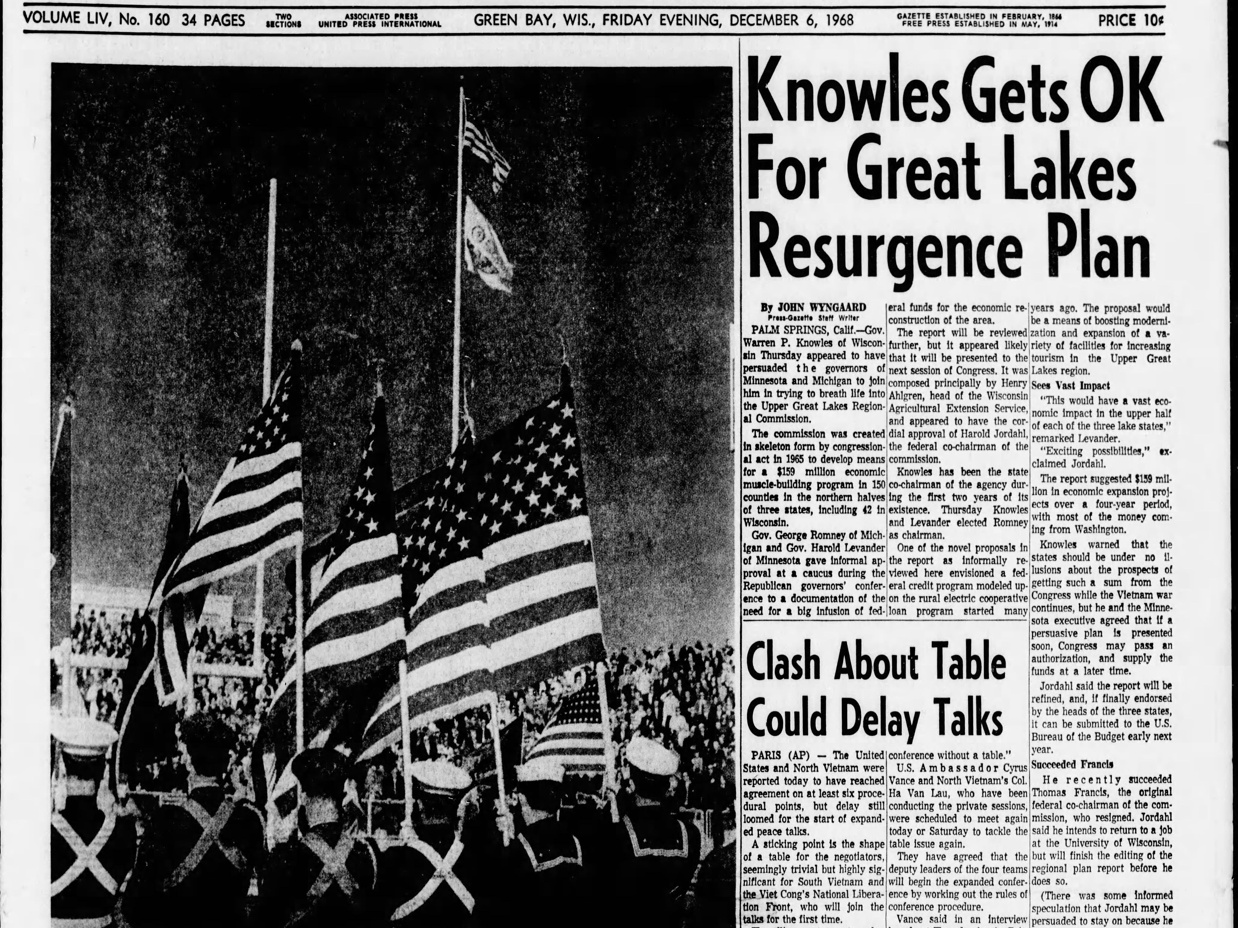 Today in History:  Dec. 6,1968
