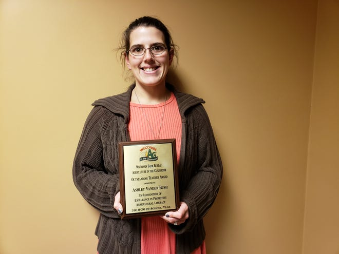 Sturgeon Bay teacher Ashley Vanden Bush has been named the recipient of  the Wisconsin Ag in the Classroom Program's Outstanding Teacher Award.