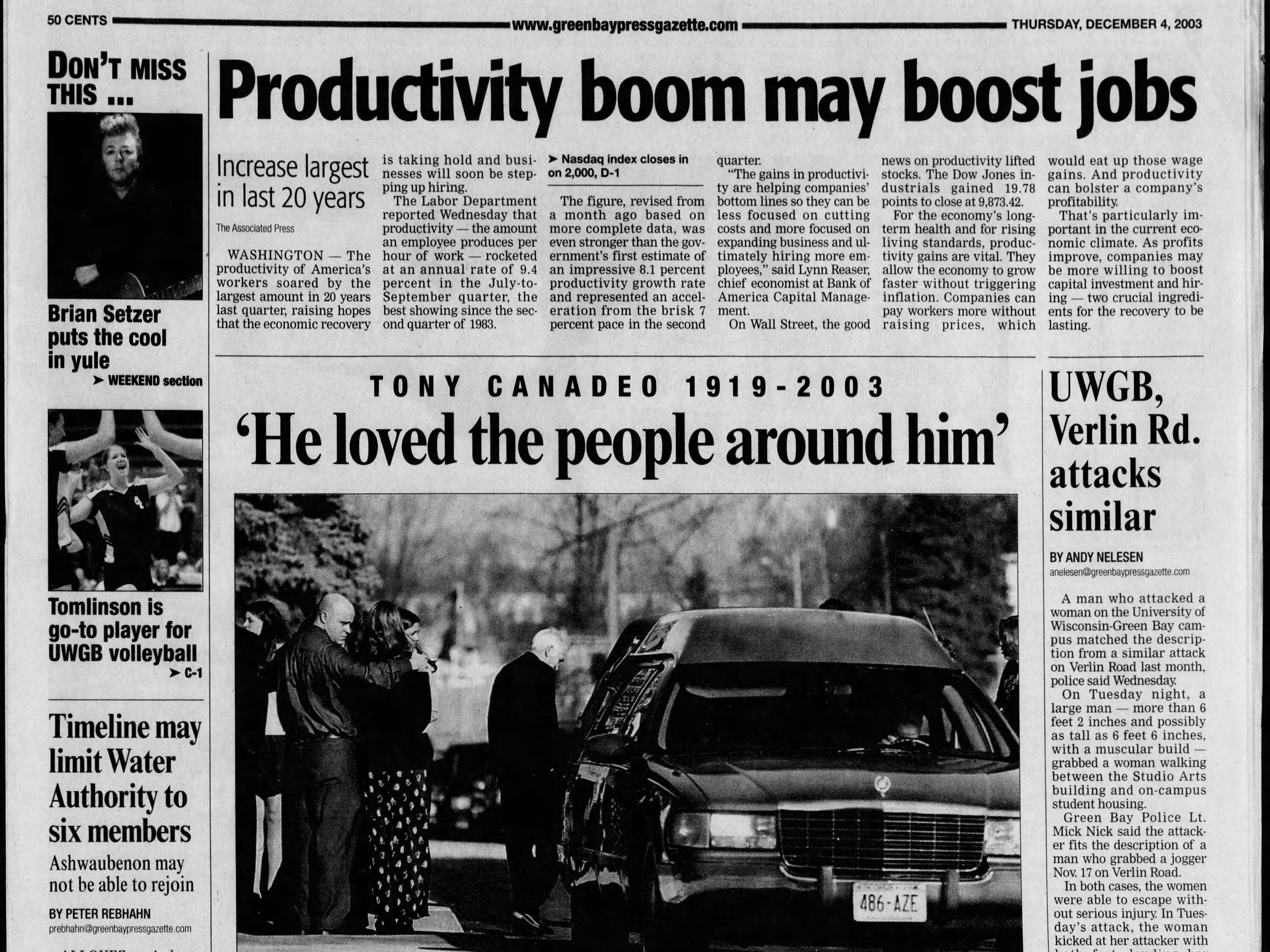 Today in History: Dec. 4, 2003