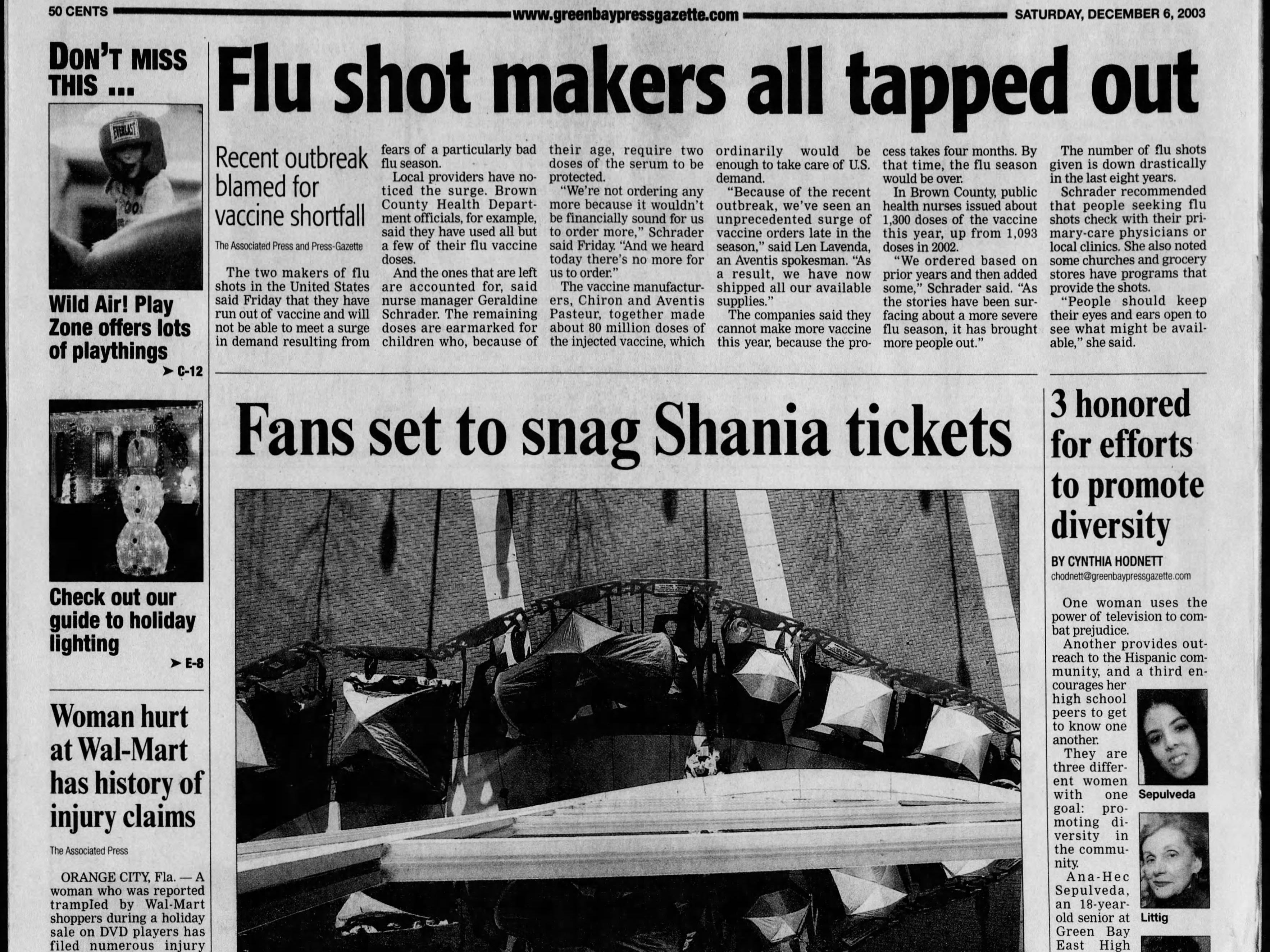 Today in History:  Dec. 6, 2003