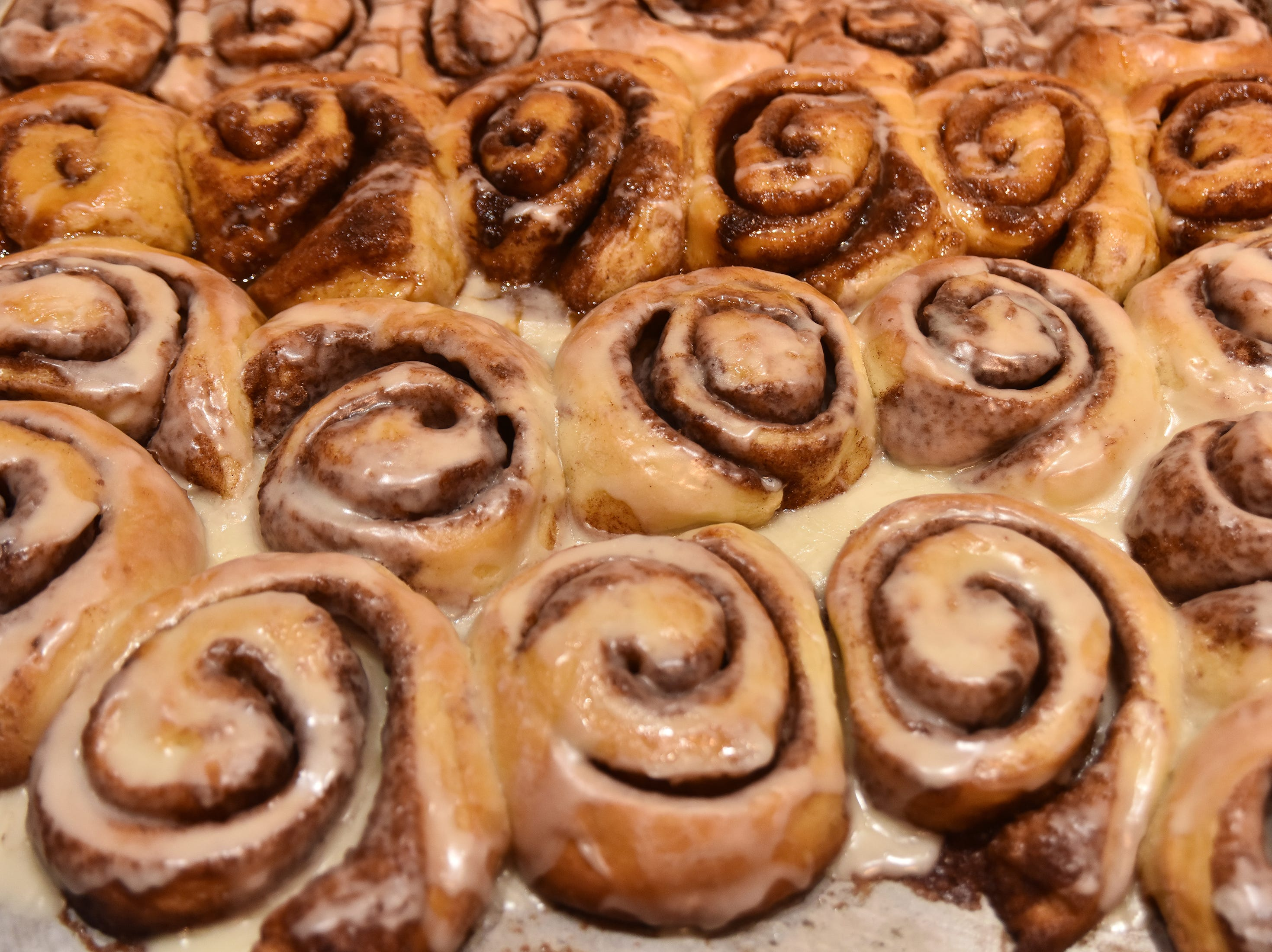 Cinnamon rolls made by Cynthia Willaims.