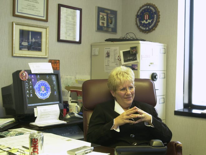Carol Allison, supervisory senior resident agent in the Greenville office of the Federal Bureau of Investigation, during an interview in her office Tuesday, June 10, 2003.