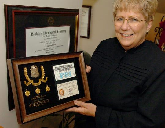 Carol Allison now displays her Erskine degree in her home office.Carol Allison shares memories of her days with the FBI.GWINN DAVIS / STAFF  gdavis@greenvillenews.com  (864) 915-0411June 2, 2007