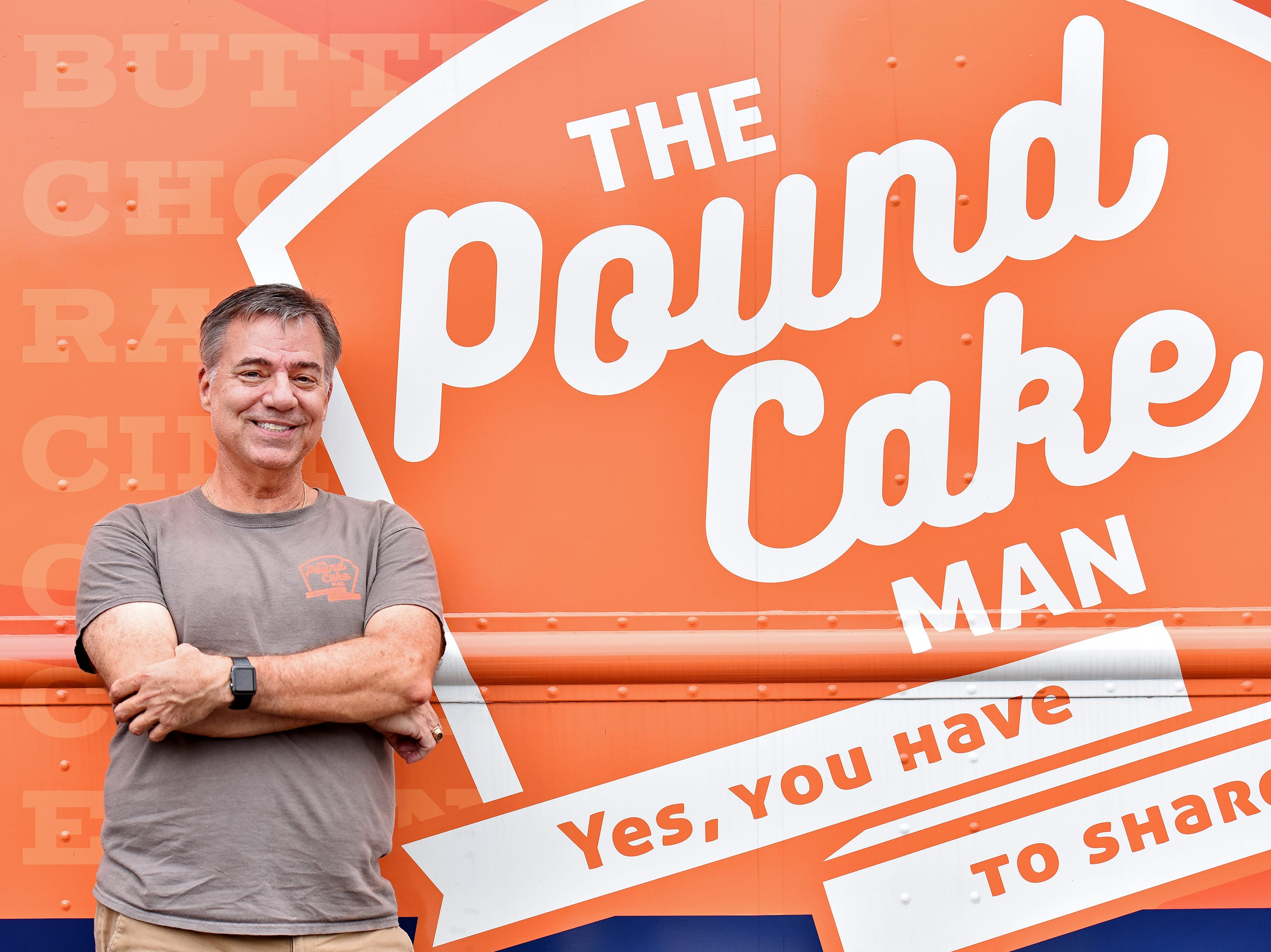 Jeff Bennett owns and operates The Pound Cake Man food truck.