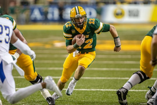 North Dakota State quarterback Easton Stick has thrown for 2,094 yards and 22 touchdowns this season, while also rushing for 402 yards and 11 scores.