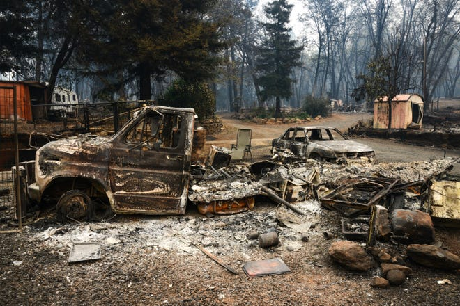 Devastation in Paradise, Calif., caused by the Camp Fire wildfires.