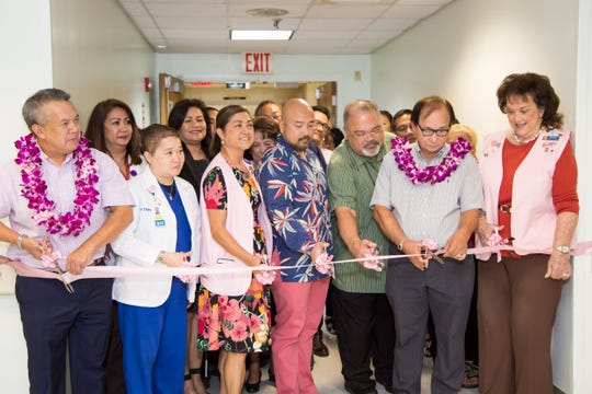 Representatives from the Filipino Community of Guam, Guam Memorial Hospital Volunteers Association, the Guam Memorial Hospital and GTA participated in a ribbon cutting ceremony on Nov. 21 to commemorate recent donations and renovations made to improve GMH's third floor.