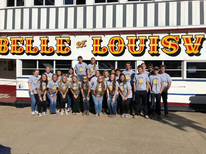Pictured Left to right back row: Kaitlyn Tharp, Jordan Stewart, Olivia French, Olivia Sprague, Luke Hawkins, Hannah Thomas, Ronnie Stanelle, Gabby Venson, Paige Price, Ryan Clements, Mason Welden, Kyle Shirel, Benson Greenwell, Avery Welden.   Pictured Front Row Left To Right: Emma Greenwell, Rayann Willett, Bailey Hagan, Lily Welden, Jacey Bills, McKayla Robinson, Mallory White, Hannah Greenwell, Hanner Cardwell, and Ethan Wallace.