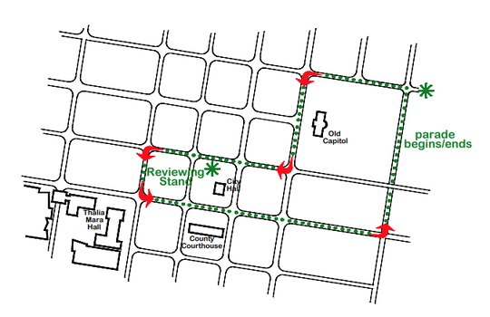 Here is the City of Jackson Christmas Parade route.