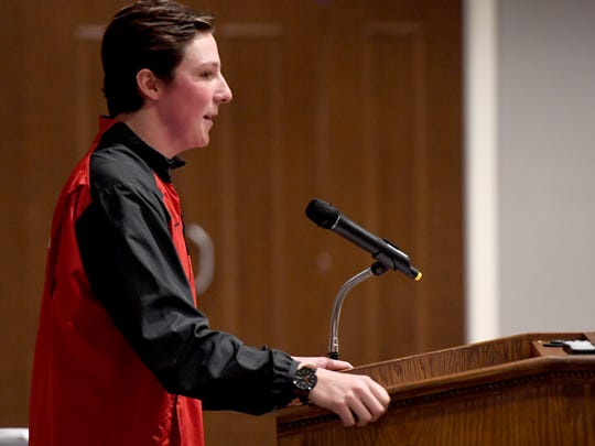 Former University School of Jackson and Ole Miss baseball player Ryan Rolison spoke at the Ole Miss Alumni dinner, Thursday, November 29.