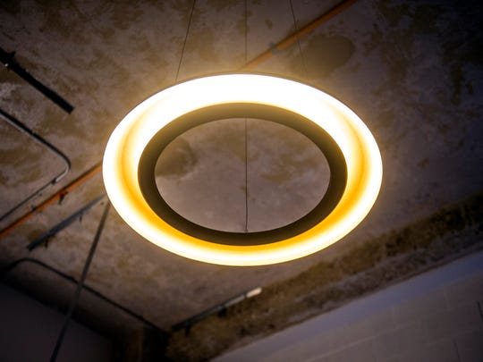 New light fixtures are being added to the units at Sterchi Lofts.