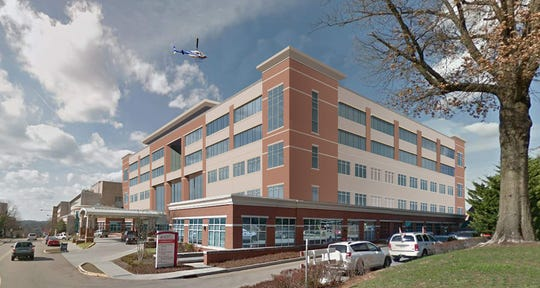 A rendering of the planned expansion at Fort Sanders Regional Medical Center.