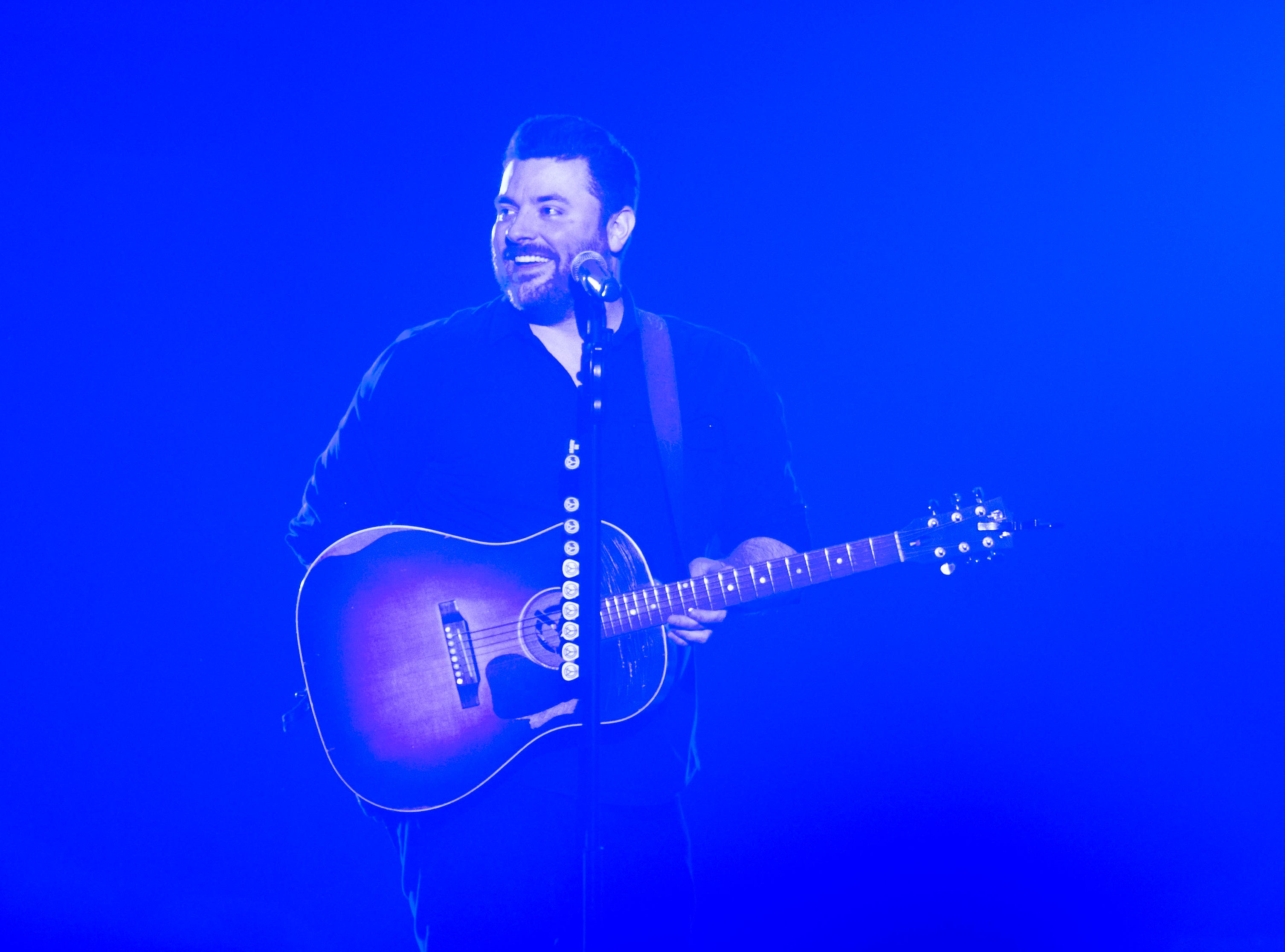 Chris Young performs at Thompson-Boling Arena Thursday Nov. 29, 2018. Morgan Evans and Dan + Shay opened for Young.