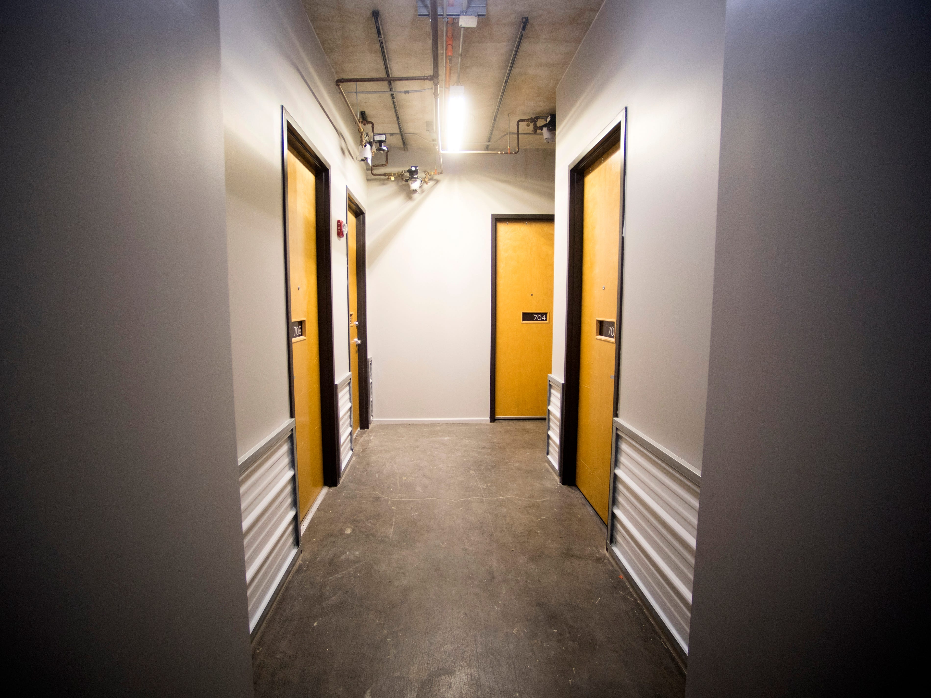 Hallways are receiving new coats of paint at Sterchi Lofts on Gay St. in downtown Knoxville.