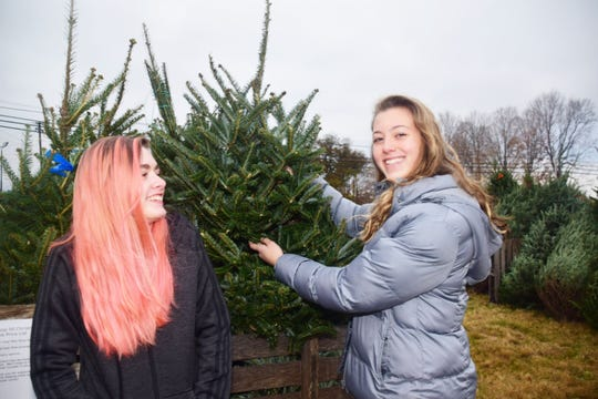 "Rylie Goszczynski, 15, and Holly VanDyke, 14, are part of the new Scouts BSA Troop 51. ""I'm really excited about girls becoming part of Scouts BSA. We get to help with the Christmas Trees and we'll be doing a lot more hands-on stuff like going on high adventures. I can't wait,"" said VanDyke."