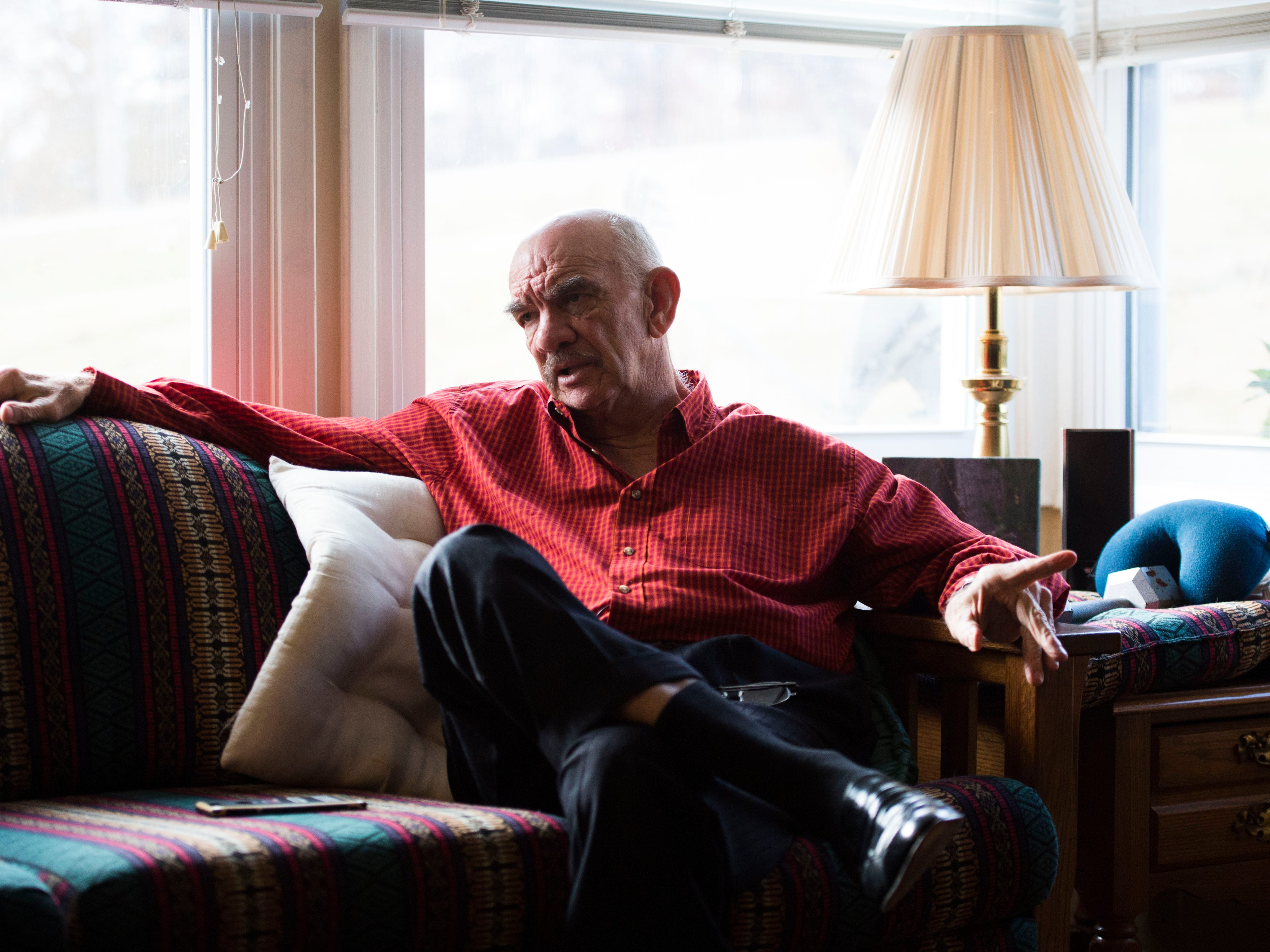 Retired Knoxville Police Department investigator Jim Winston, sits in his Knoxville home Tuesday, Nov. 27, 2018. Winston recounted the case of David Earl Miller's murder of Lee Standifer back in the 1980's.