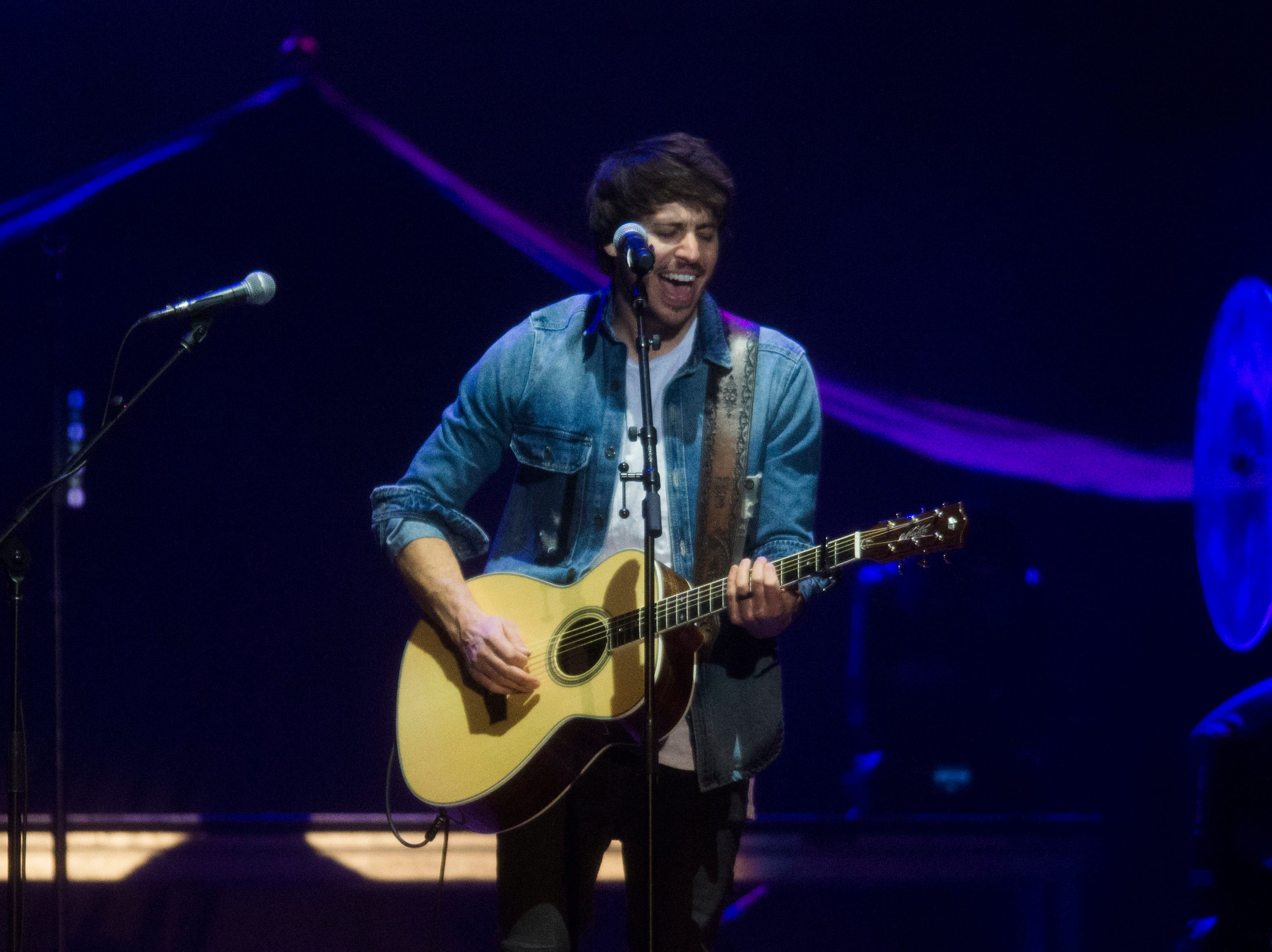 Morgan Evans opens for a Chris Young concert at Thompson-Boling Arena, which also featured Dan + Shay as an opening act, Thursday Nov. 29, 2018.