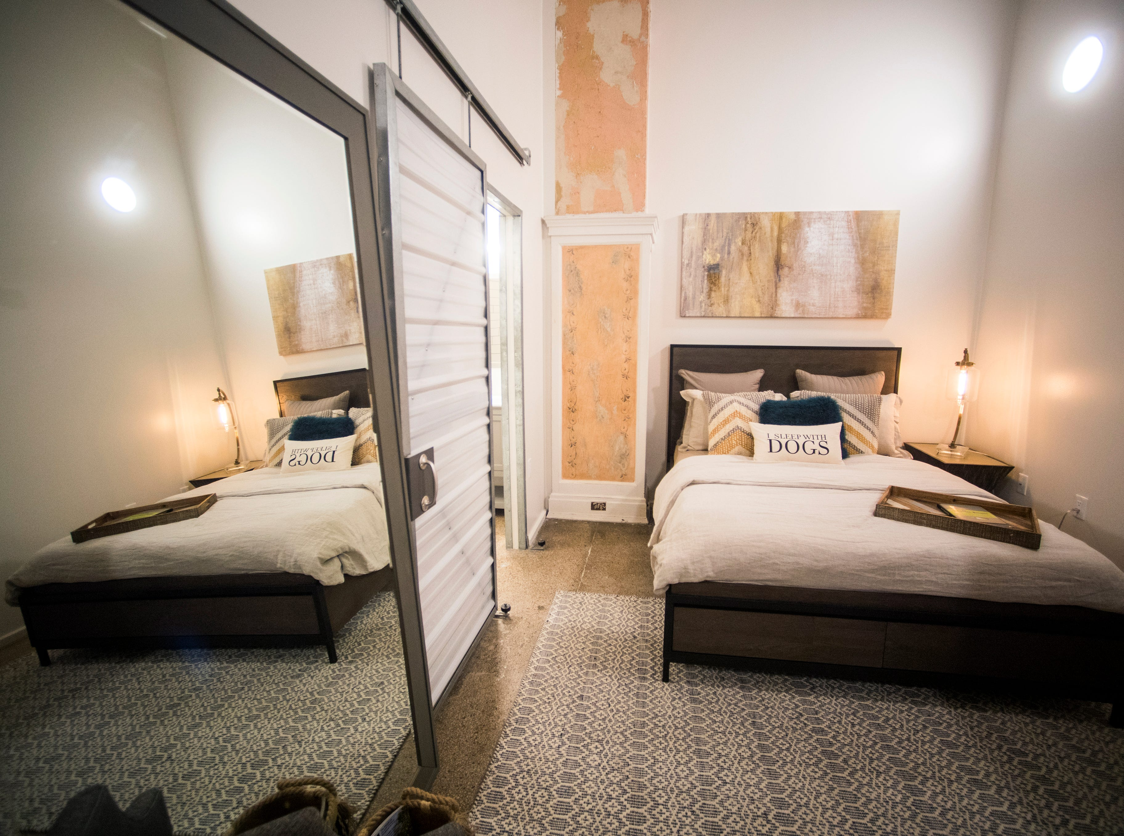 A bedroom in the condos being renovated at Sterchi Lofts on Gay St. in downtown Knoxville.