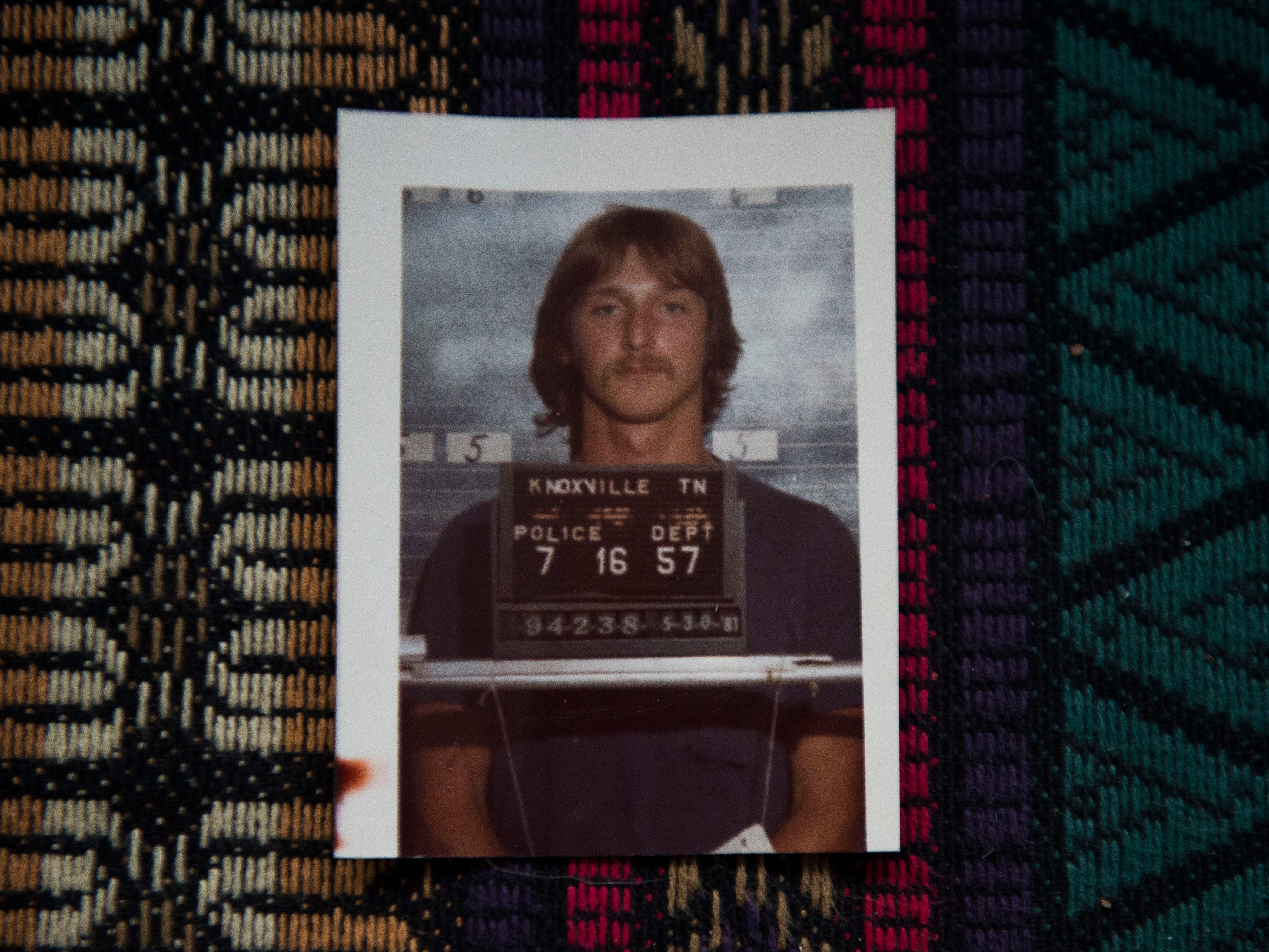 A mugshot of David Earl Miller, in 1981, kept at Knoxville Police Department investigator Jim Winston's Knoxville home Tuesday, Nov. 27, 2018. Winston recounted the case of David Earl Miller's murder of Lee Standifer.