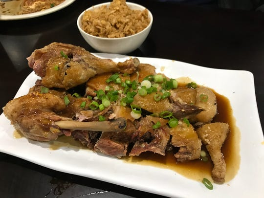 The meatiest pieces of the duck were the legs, which were pretty scrawny compared to chicken or turkey legs, and contained much less meat that what was pictured on the menu. It was good. It just wasn't that meaty.