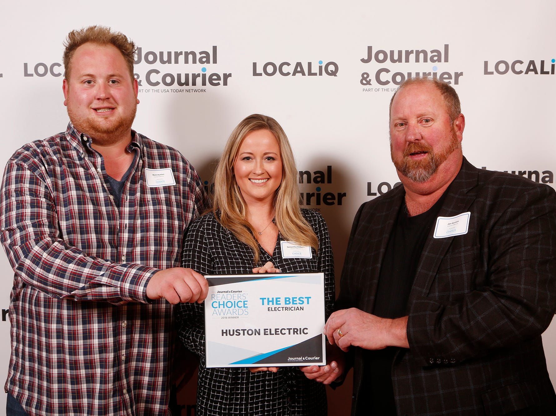 Huston Electric, Journal & Courier Readers' Choice Awards winner for the best electrician.