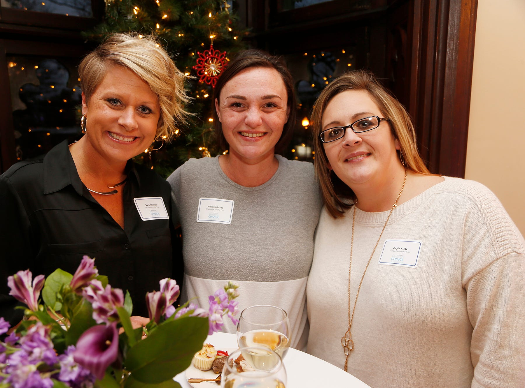 Winners mingle at the Journal & Courier Readers' Choice Awards Thursday, November 29, 2018, at the Moses Fowler House.