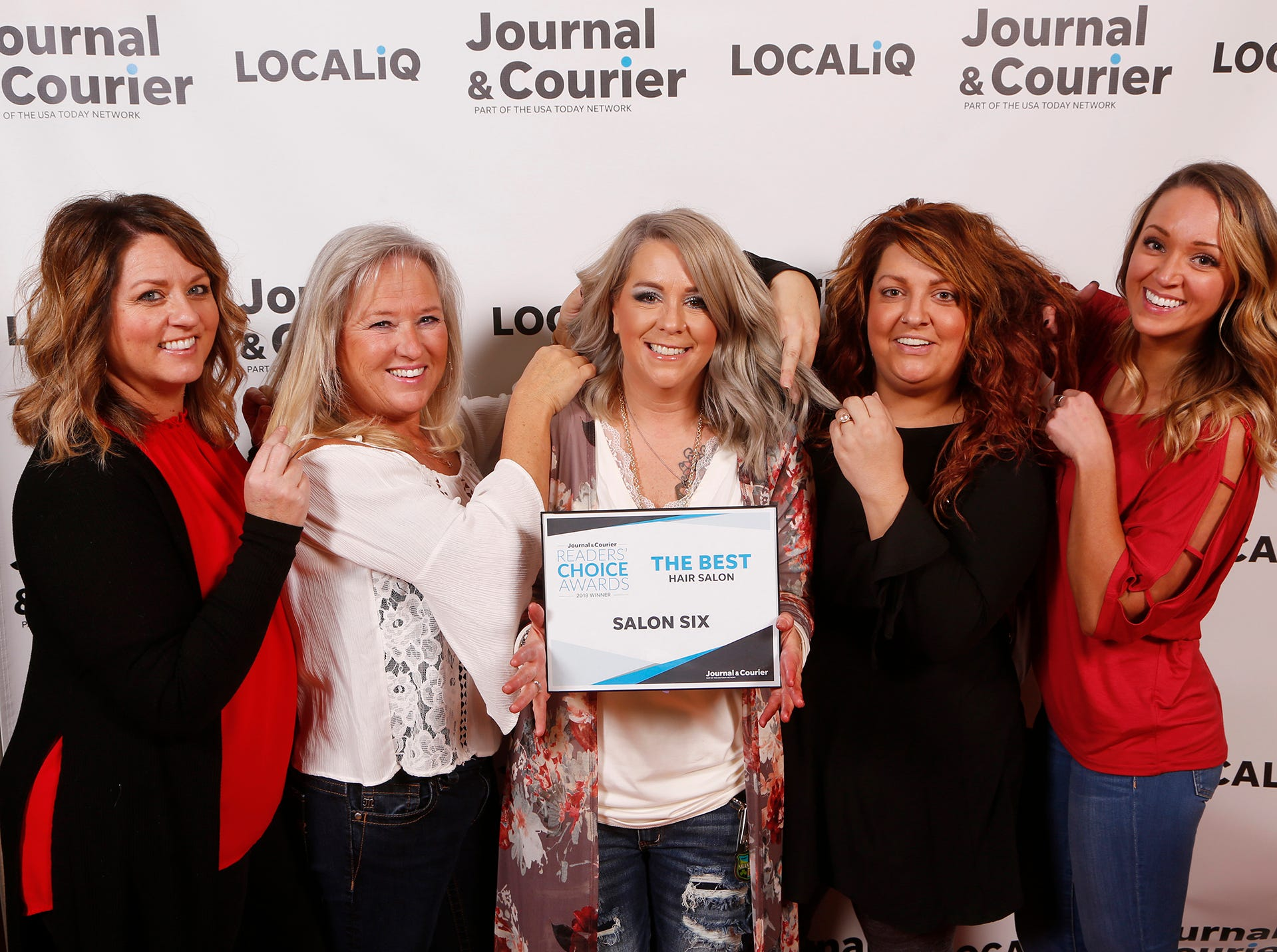 Salon Six, Journal & Courier Readers' Choice Awards winner for the best hair salon.