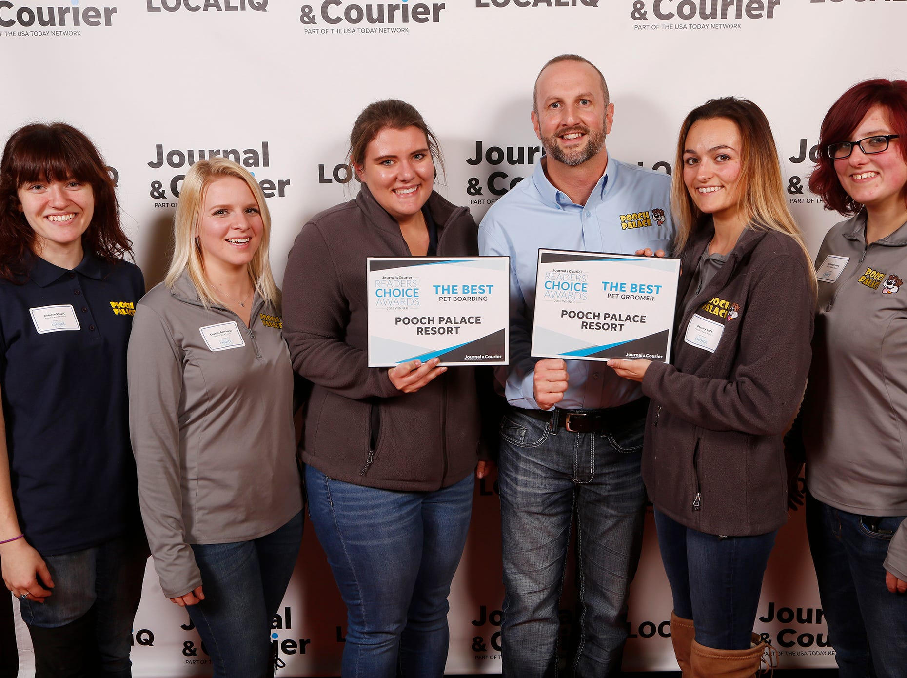 Pooch Palace Resort, Journal & Courier Readers' Choice Awards winner for the best pet boarding and the best pet groomer.