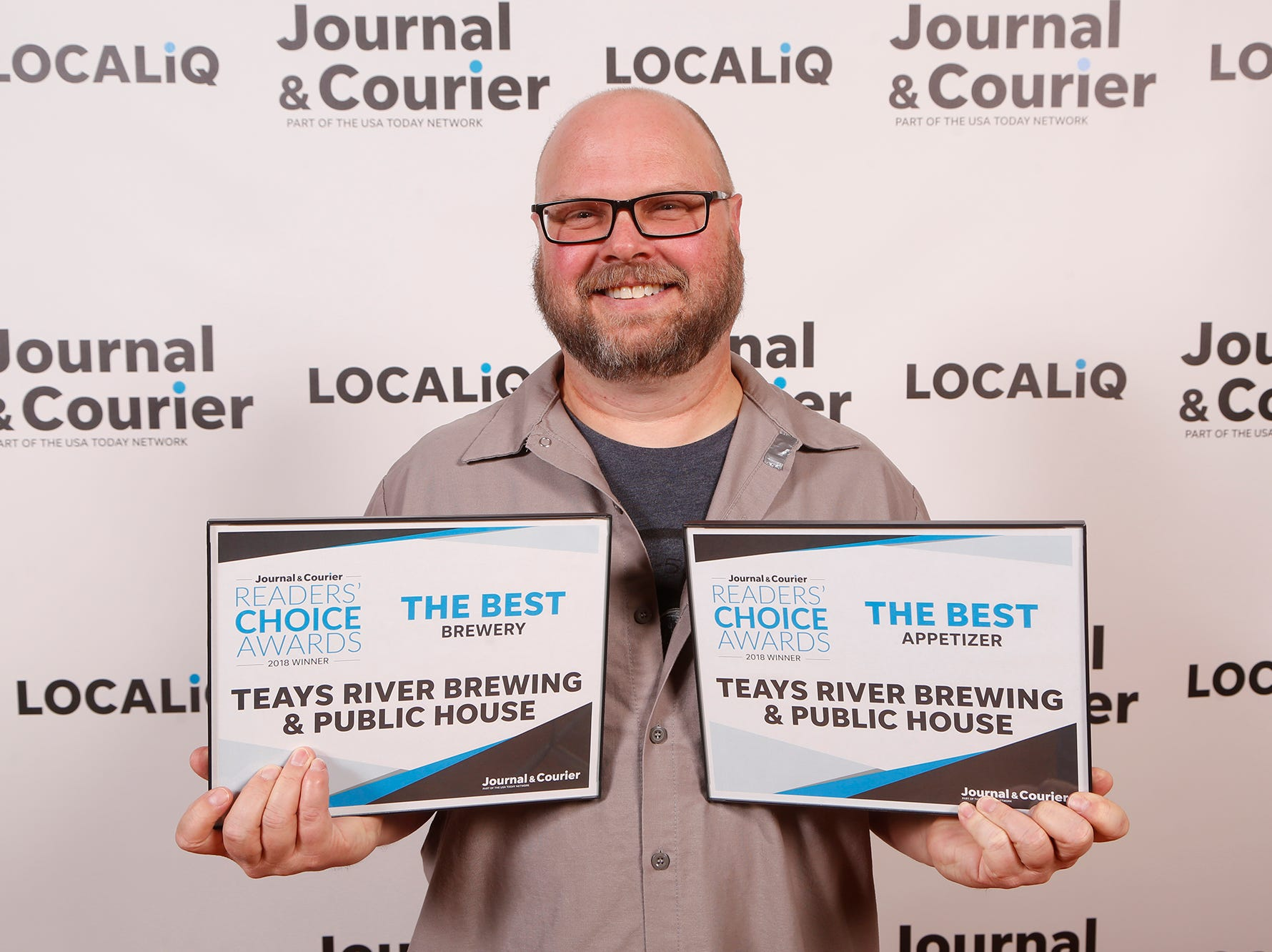 Teay's River Brewing & Public House, Journal & Courier Readers' Choice Awards winner for the best brewery and the best appetizer.