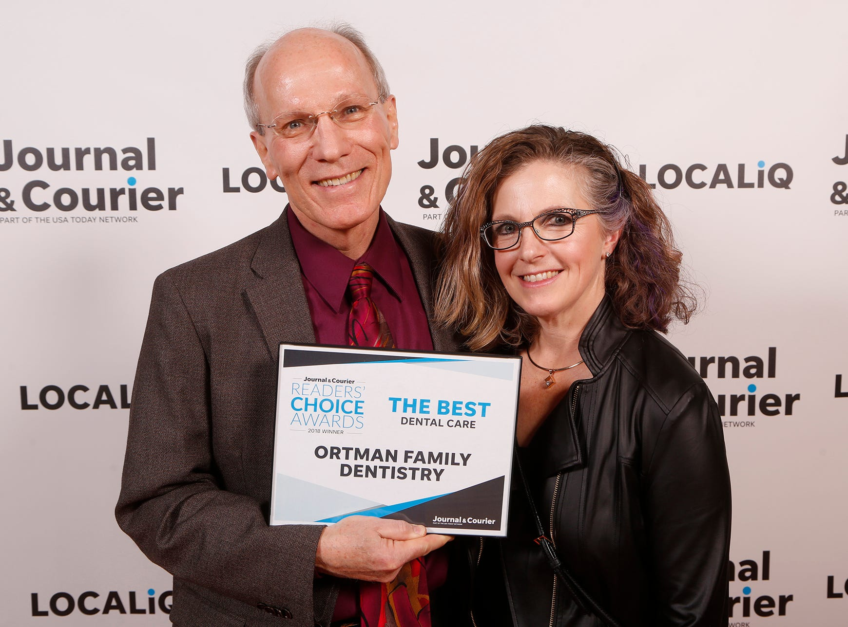 Ortman Family Dentistry, Journal & Courier Readers' Choice Awards winner for the best dental care.