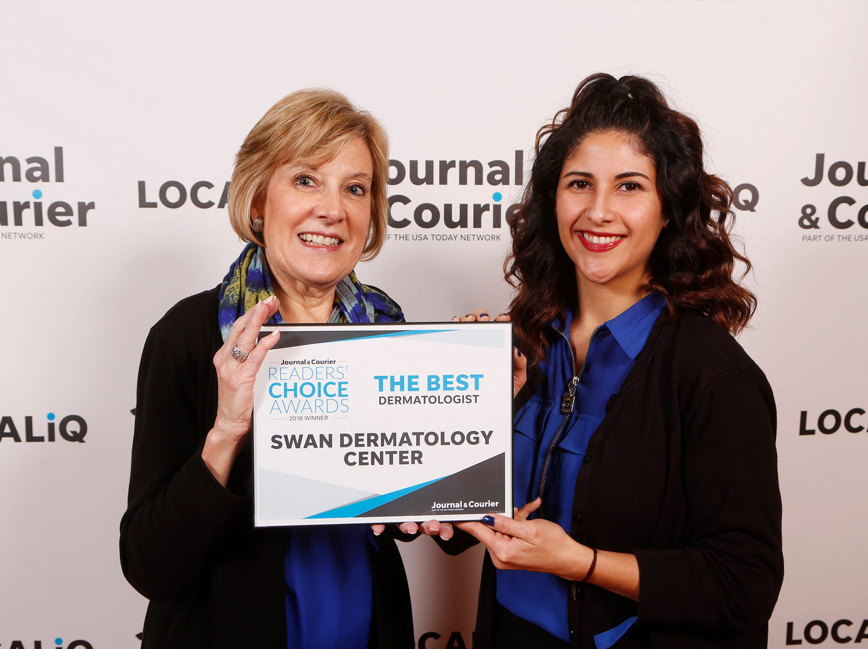 Swan Dermatology Center, Journal & Courier Readers' Choice Awards winner for the best dermatologist.
