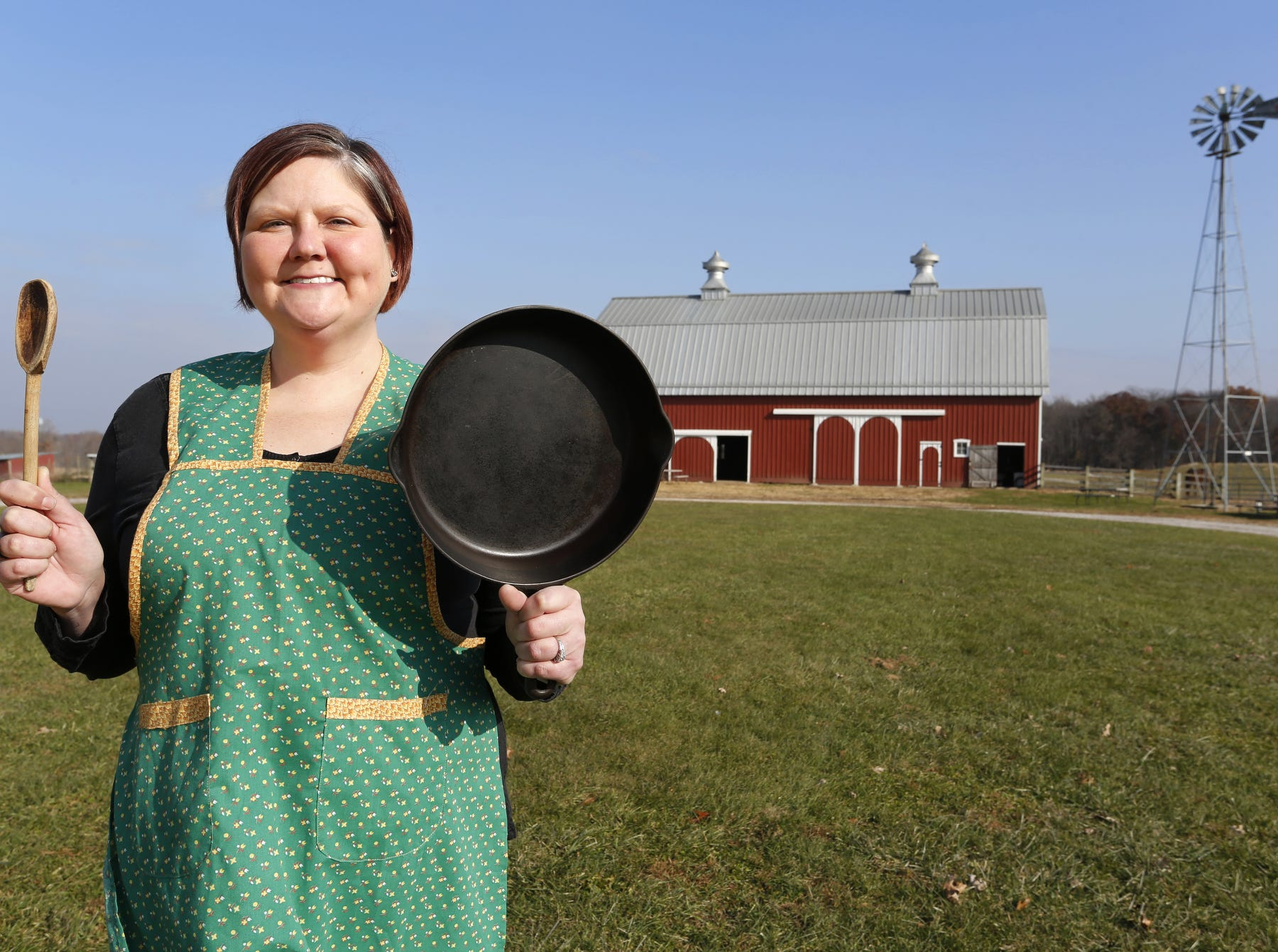 Lauren Reed, events and education coordinator for the Farm at Prophetstown Town, Wednesday, November 21, 2018, at the farm near Battle Ground.