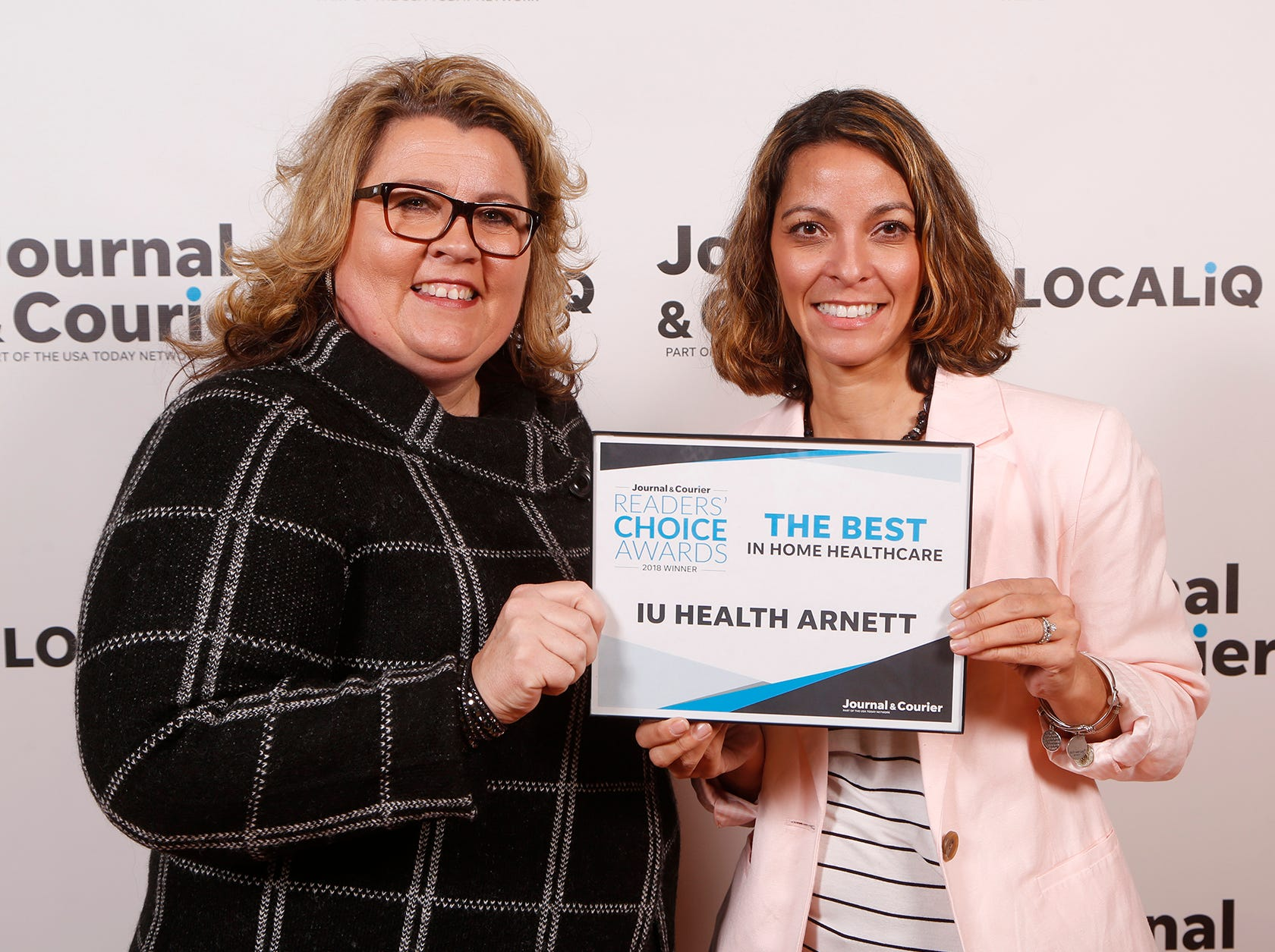 IU Health Arnett, Journal & Courier Readers' Choice Awards winner for the best in home healthcare.