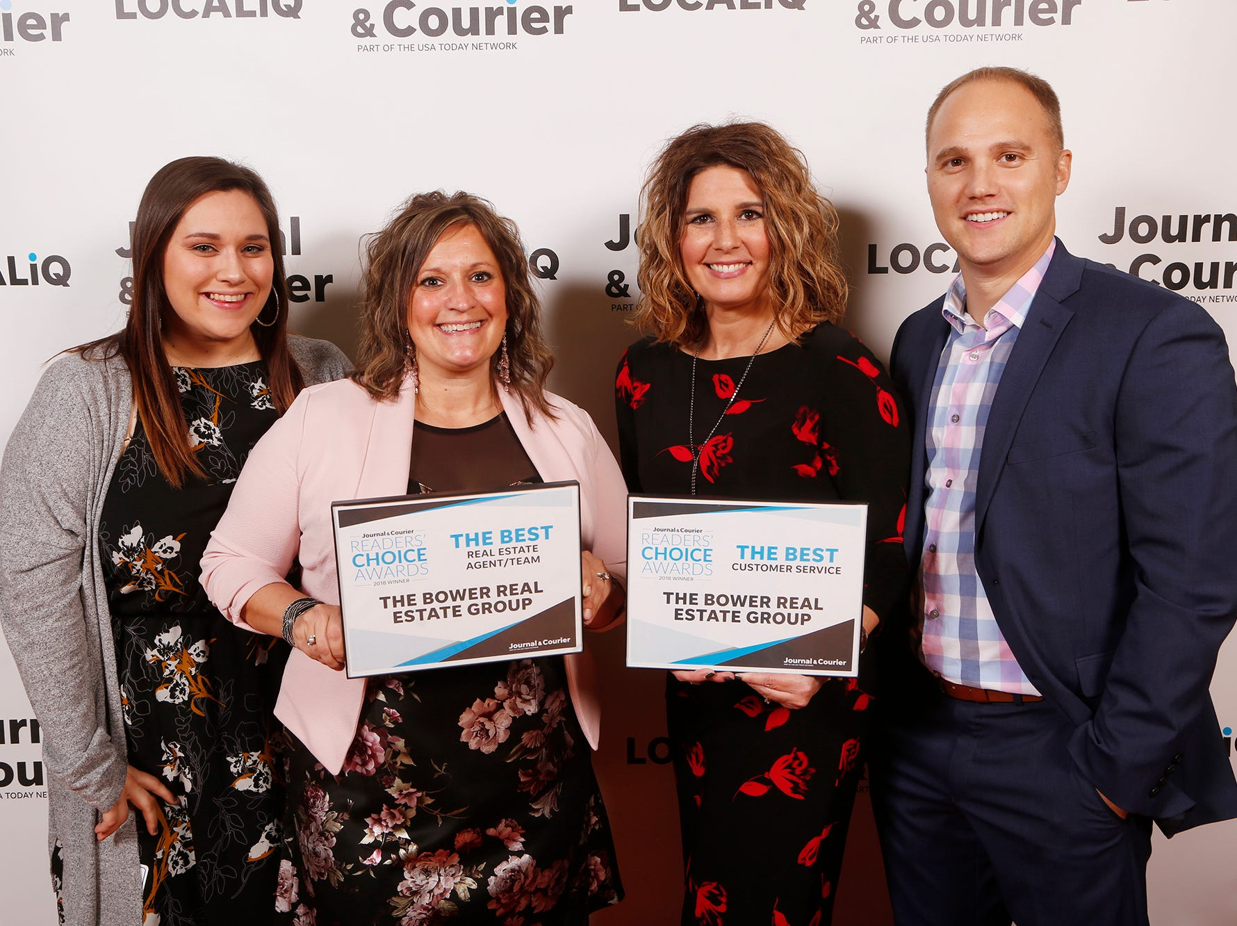 The Bower Real Estate Group, Journal & Courier Readers' Choice Awards winner for the best real estate agent/team and the best customer service.