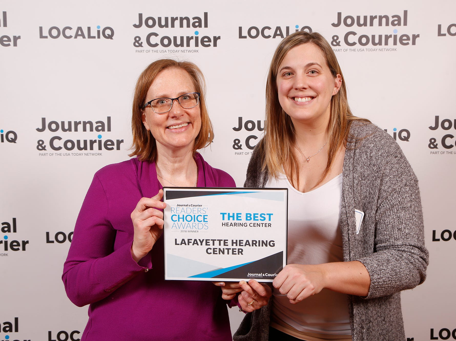 Lafayette Hearing Center, Journal & Courier Readers' Choice Awards winner for the best hearing center.
