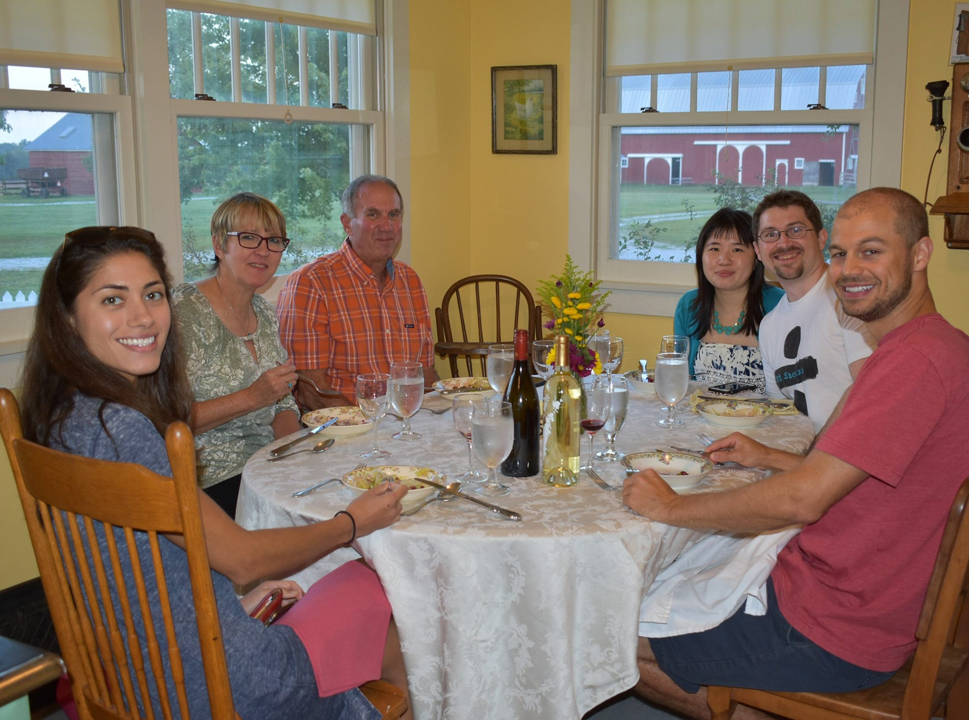 Guests enjoy unique farm-to-table dishes prepared by Reed at the 1920s-era farmhouse at the state park.