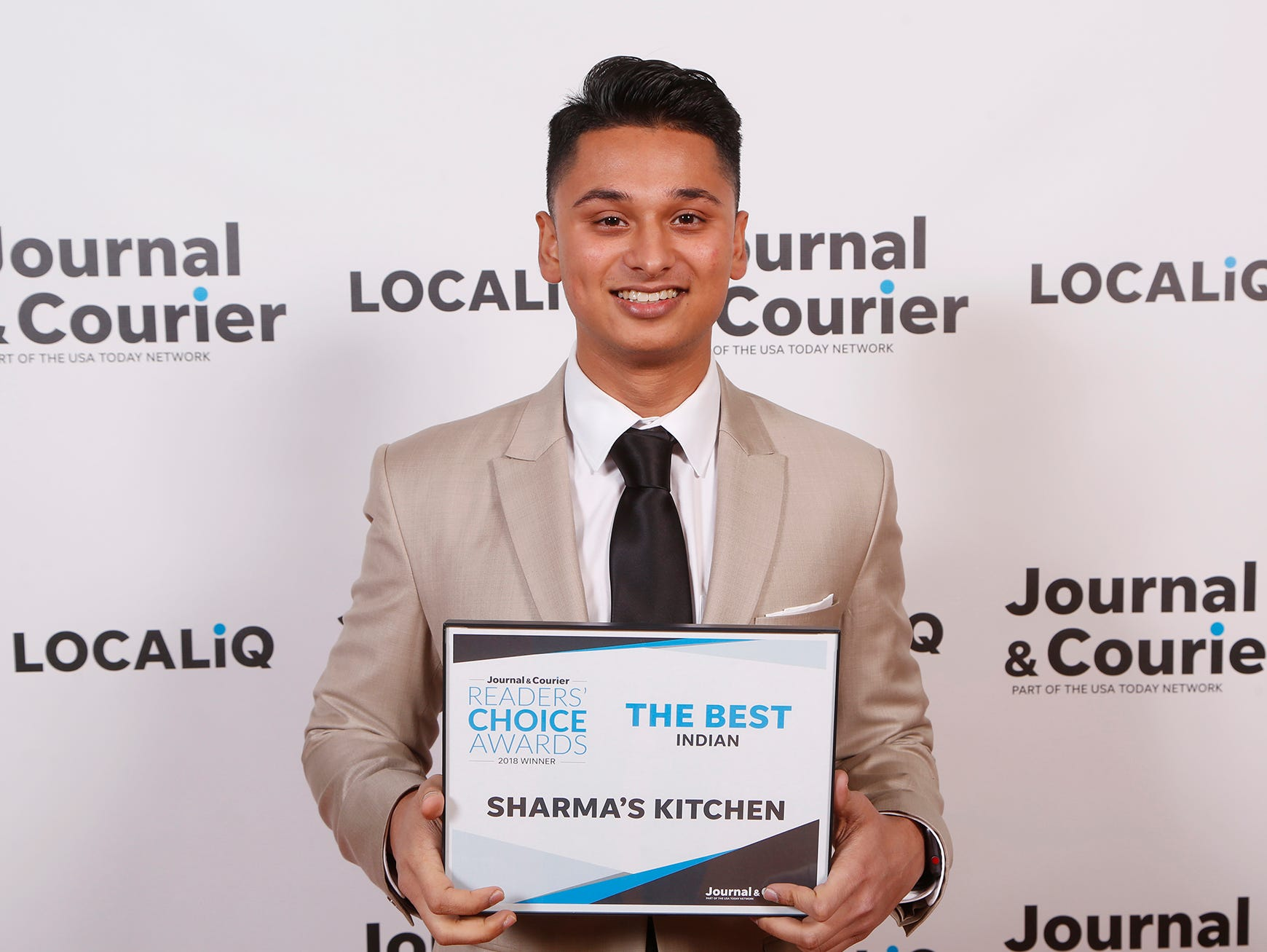 Sharma's Kitchen, Journal & Courier Readers' Choice Awards winner for the best Indian.