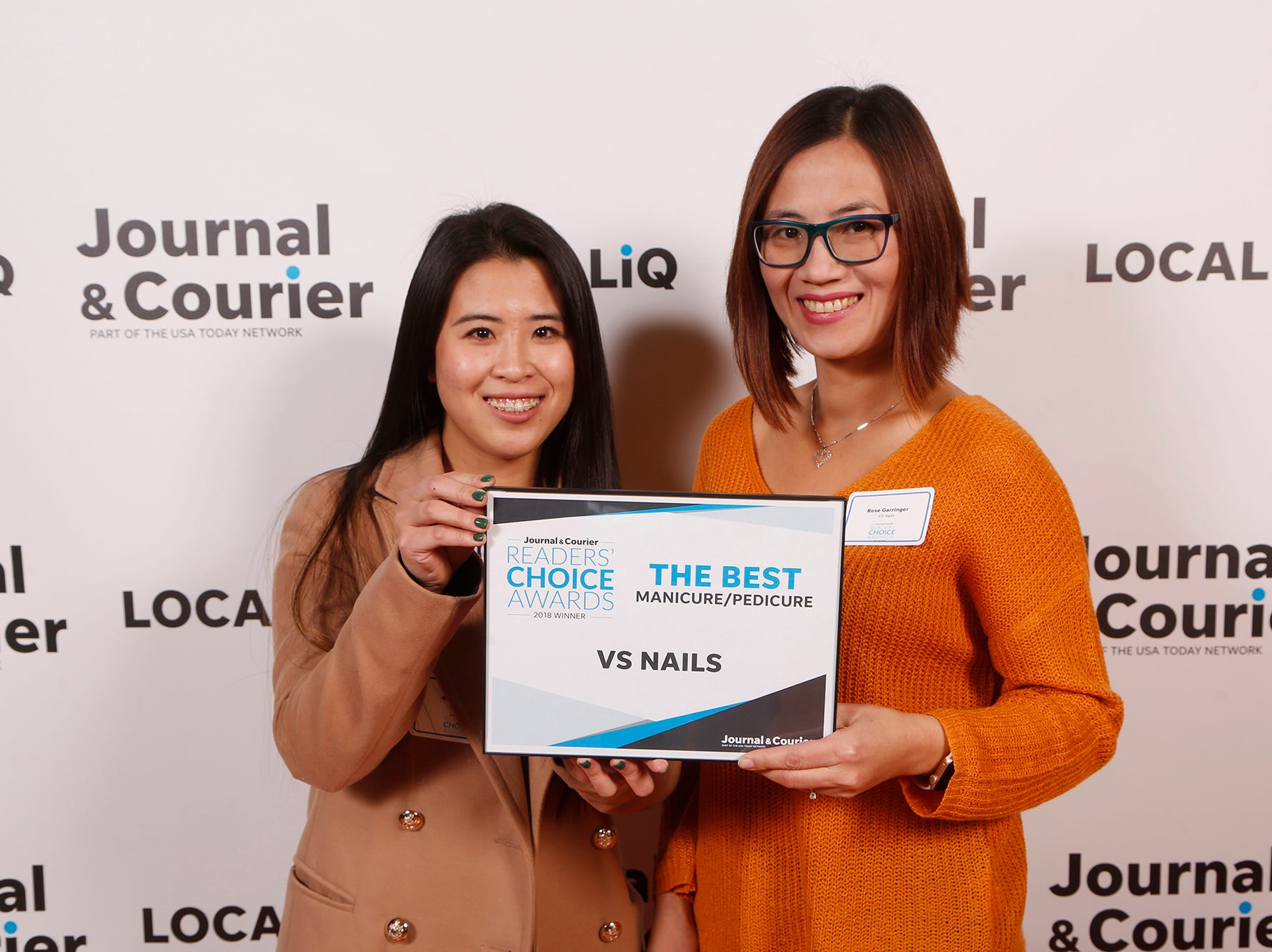 VS Nails, Journal & Courier Readers' Choice Awards winner for the best manicure/pedicure.