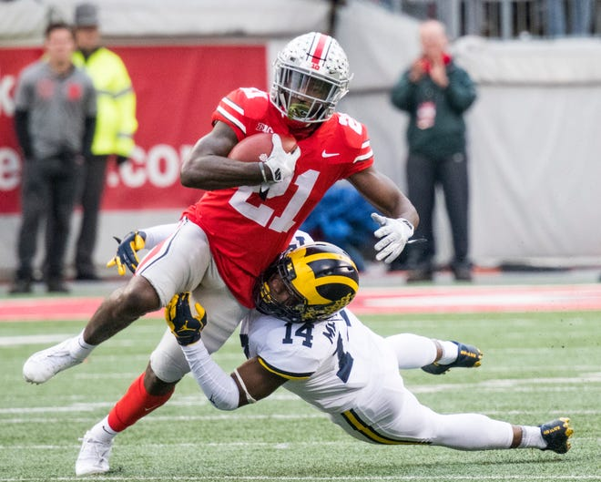 Ohio State's Parris Campbell had a monster game against Michigan, catching 6 passes for 192 yards and two touchdowns, one a 78-yarder.