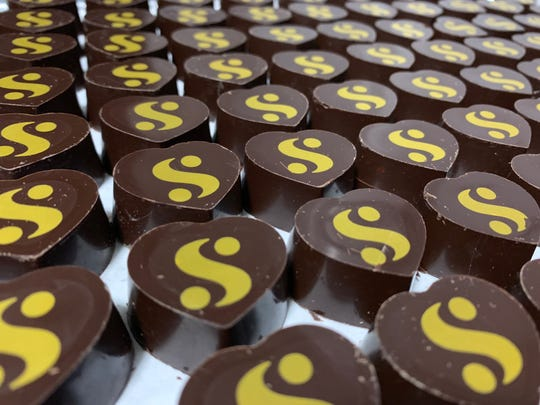 Phillip Ashley Chocolates created a custom-made chocolate for a pop-up shop for Serena Williams' new fashion line Serena.