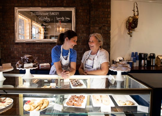 Anna Leatherwood and her mother Margaret Adcock are selling cookies, cupcakes, doughnuts and other baked goods at their new shop Buttercream Bakery in Bartlett.