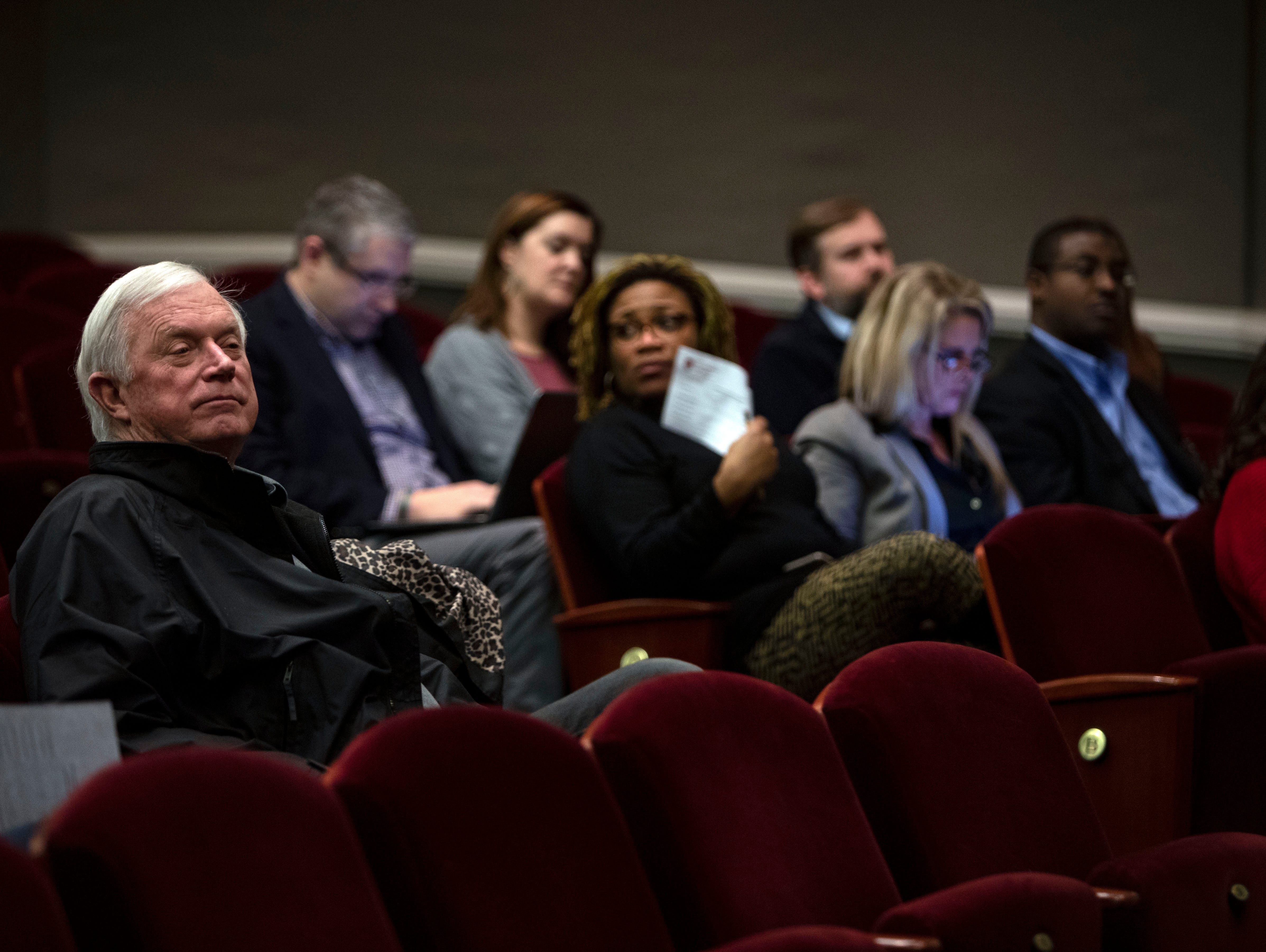 Collierville residents attend the Collierville school board meeting, Thursday, Nov. 29, 2018. The board votes to start school later.