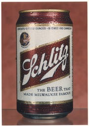 A can of Schlitz beer, the beer that made Milwaukee famous.
