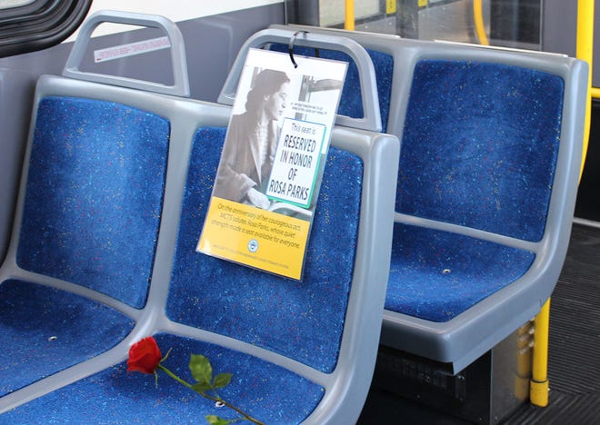 Every Milwaukee County Transit System  bus will have a seat reserved in honor of Rosa Parks, who refused to give up her seat to a white man on Dec. 1, 1955.