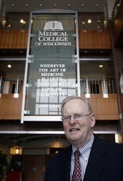 T. Michael Bolger was photographed as he announced plans to retire in 2010 from the Medical College of Wisconsin, which grew under his leadership into one of the nation's largest medical research and teaching facilities.