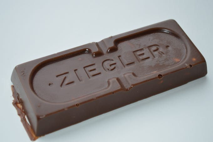 Ziegler Giant Bars, which were invented by the George Ziegler Company in the early 1900s, can only be purchased at Half Nuts or on the shop's website.