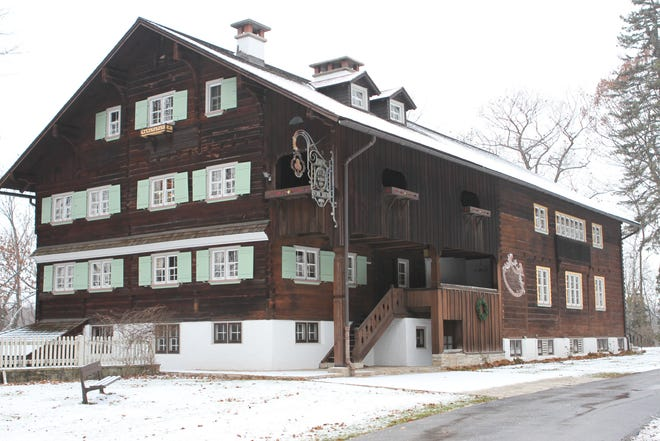 Situated on a bluff overlooking the Sheboygan River, the Waelderhaus stands as a tribute to the tradition of the Bregenzerwald Province of Vorarlberg, Austria. It was from the Bregenzerwald village of Schoppernau that John Michael Kohler, who founded the Kohler Company in 1873, came when he was 10 years old.  It is to his memory that his daughter, Maria Christine Kohler, dedicated the Waelderhaus when she presented it to Kohler Village in 1931.
