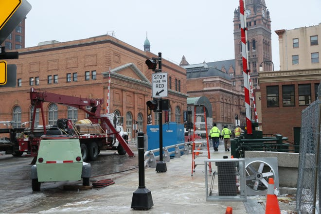 Preparations are underway to reopen the Wells St. bridge in downtown Milwaukee.