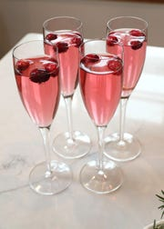 Cranberry Champagne Cocktails will put everyone in the holiday spirit.